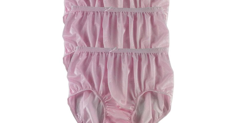 NQT03 Fair Pink  Lot 3 pcs Wholesale New Panties Granny Briefs Nylon Men Women