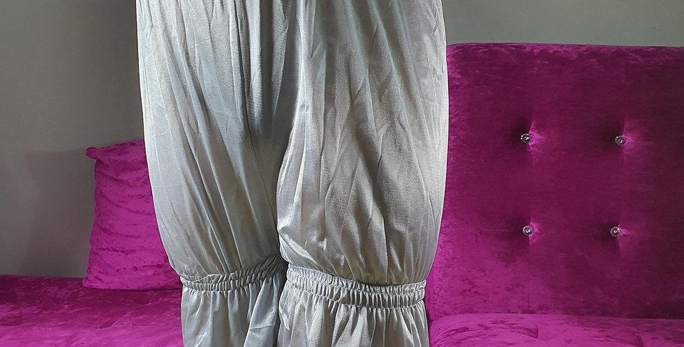 New Sissy Gray Pettipants Men Lingerie Underpants Sheer Nylon Slips Lace NSLT04
