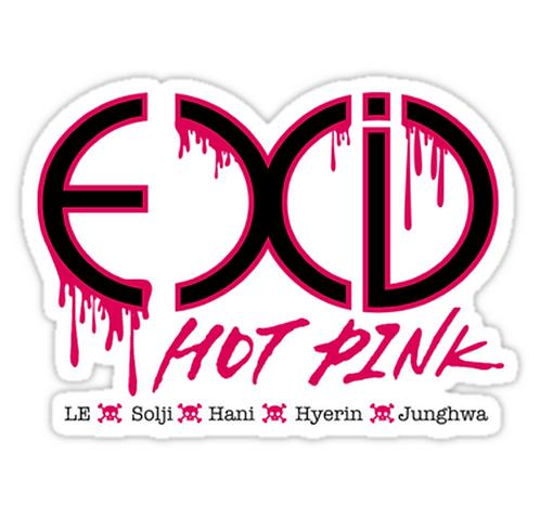 EXID Hot Pink SSTK004 K-Pop Music Brand Car Window Decal Sticker