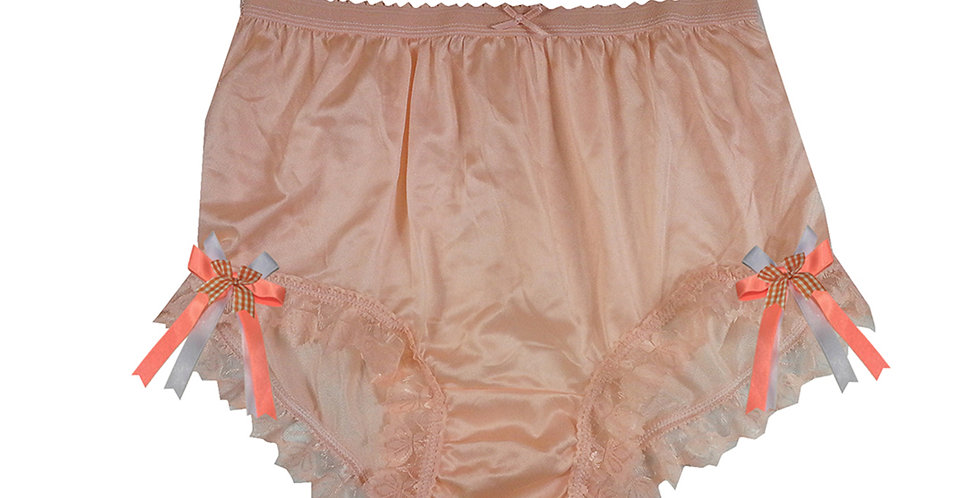 NYH17D03 Orange Handmade New Panties Briefs Lace Sheer Nylon Men Women