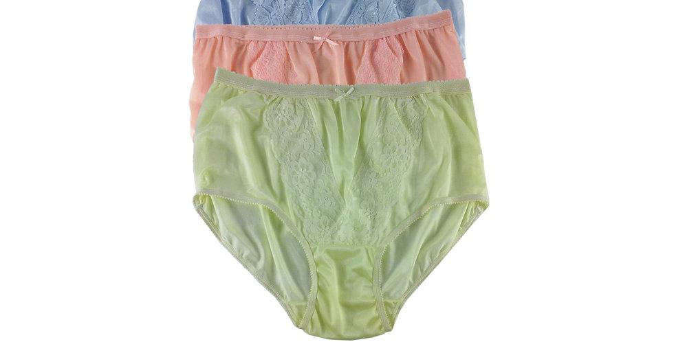 NLTH10 Lots 3 pcs Wholesale Panties Granny Lace Briefs Nylon Men Woman
