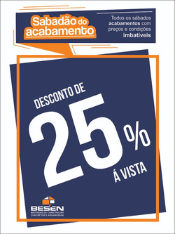 desconto de 25%