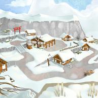 Path of Kami Village Area Concept Art