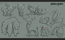 Shadow Being Sketches V1