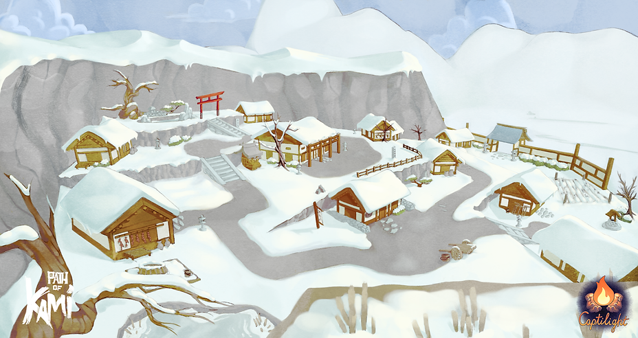 Happy_Snowy_Village - Path of Kami - Cap