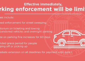 Parking enforcement relaxed
