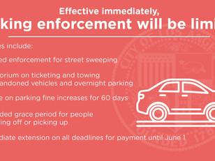 Parking enforcement relaxed