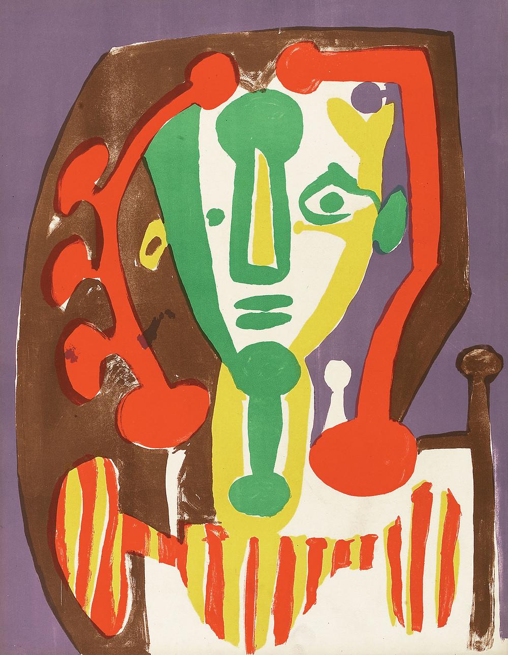 """Picasso-Werk """"Figur mit gestreifter Bluse"""""""
