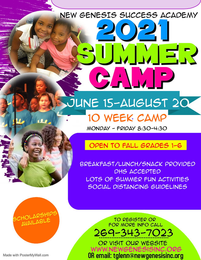 2021 Summer Camp Flyer - Made with Poste