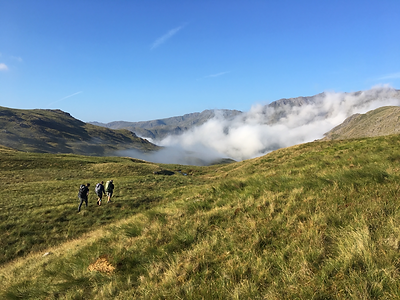 Lake District wild camping expedition near Stake Pass
