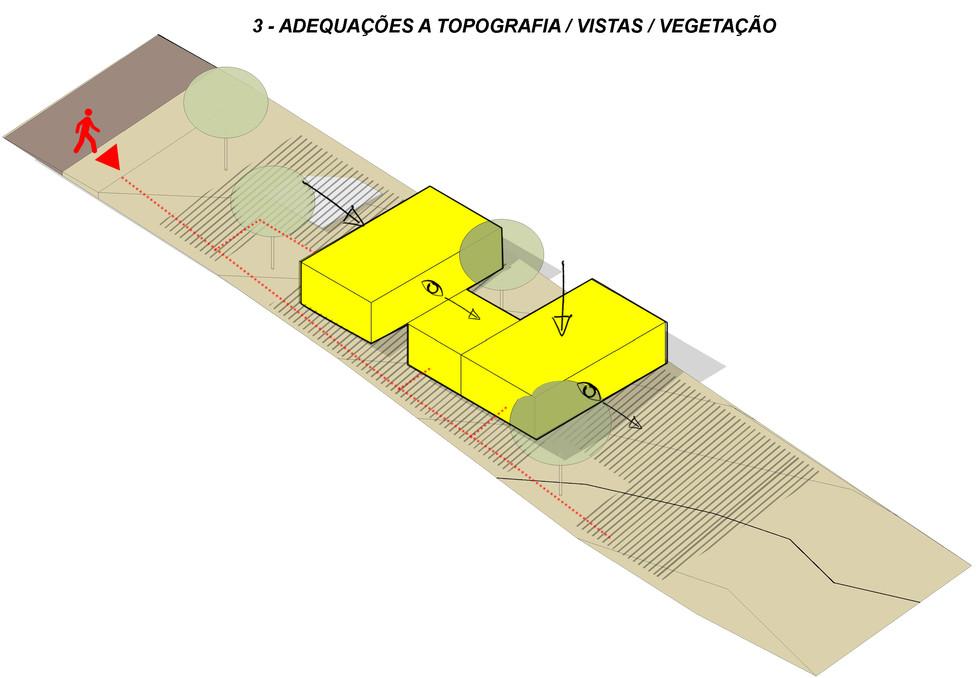 3 - Adequações a topografia e vegetação