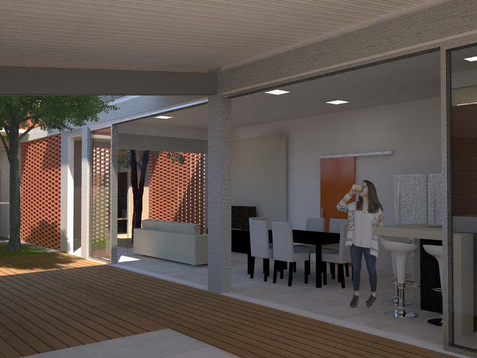 Integração da garagem com a cozinha