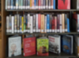 Books on display at the Flanagan Public Library Grant.