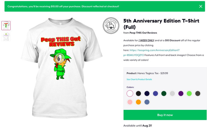 5th Anniversary! Limited Time Only Promo!