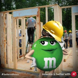 M&M's Building Homes For Habitat For Humanity