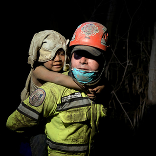 Disaster Relief: Children Victims of 'Volcan de Fuego' Guatemala