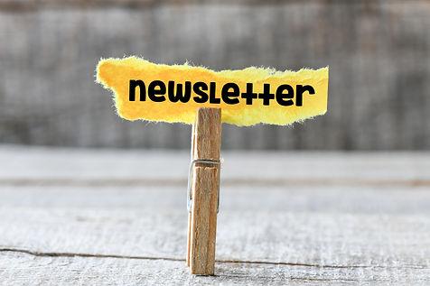 Newsletter. Paper sticker with newslette