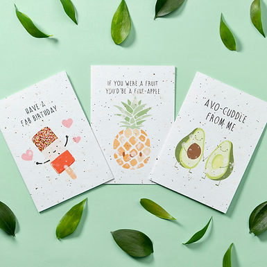 Send a plantable card that turns from paper to plant