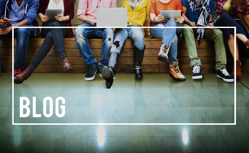 Blog Blogging Content Social Media Network Homepage Concept.jpg
