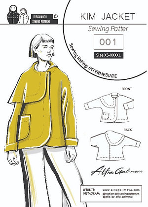 KIM  JACKET PDF Sewing Pattern
