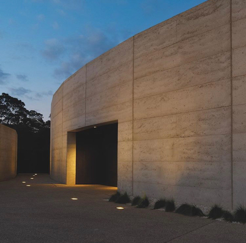 Port Phillip Estate, an architectural landscape, identified by it's limestone, rammed-earth wall structure.en