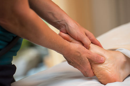 Massage therapy, healing bodywork by Kelly Barlow, LMT in Port Townsend, WA. Palm and sole therapy.