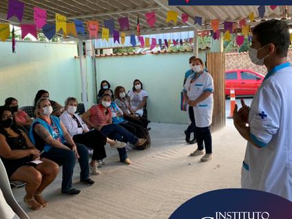 Equipes da Atenção Básica de Maricá abordam orgulho LGBTQI+ na sala de espera com usuários