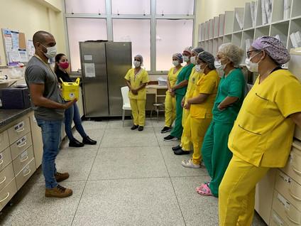 Profissionais do Himaba recebem treinamento sobre descarte correto de resíduos da Saúde