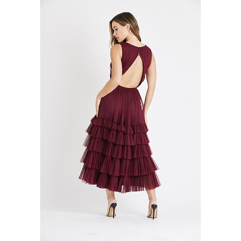 Burgundy Moon Dress