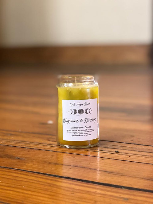 Happiness & Blessings Manifestation Candle