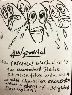 Judjemental scribble