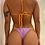 Thumbnail: Top Triângulo Brisa Dupla Face Tangerina e Lilás