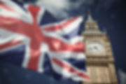 flags of UK and EU combined over icons o