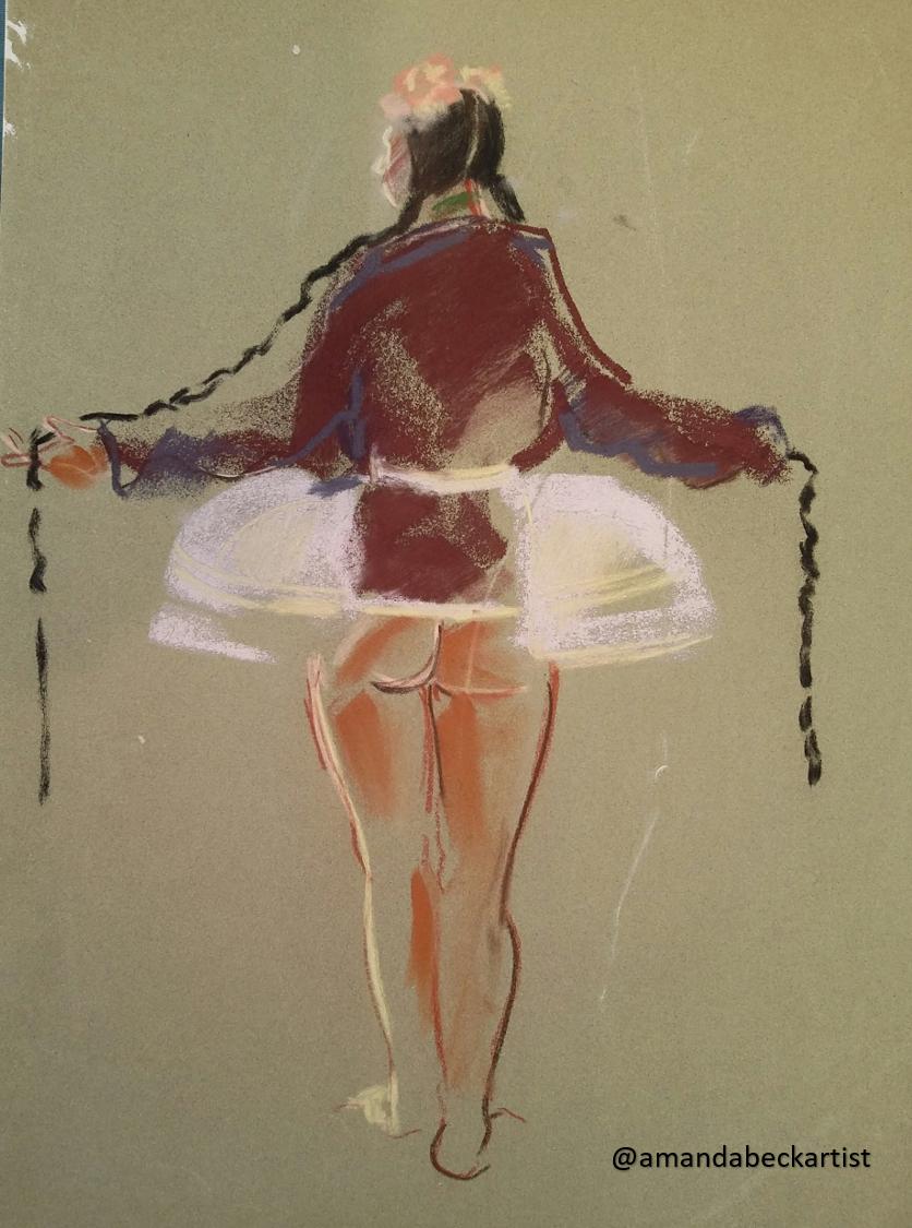 15 minute pastel sketch
