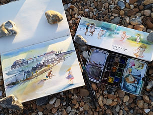 Sept 2021 Newsletter Pier watercolour Coast on the beach .jpg