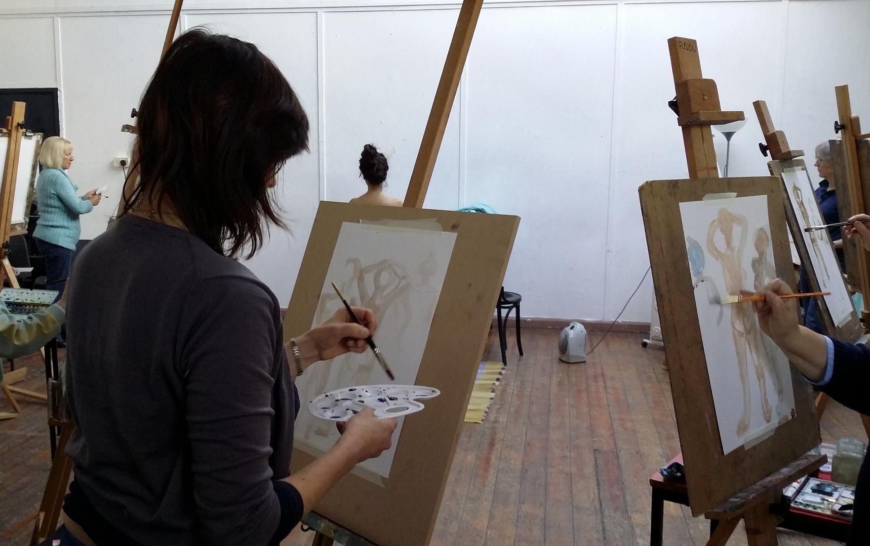 Watercolour techniques at Fusion Arts