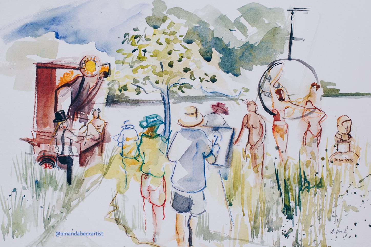 Watercolour the Drawing Circus
