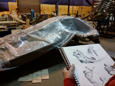 Sketchbook journey - Hangar to Hintze Hall