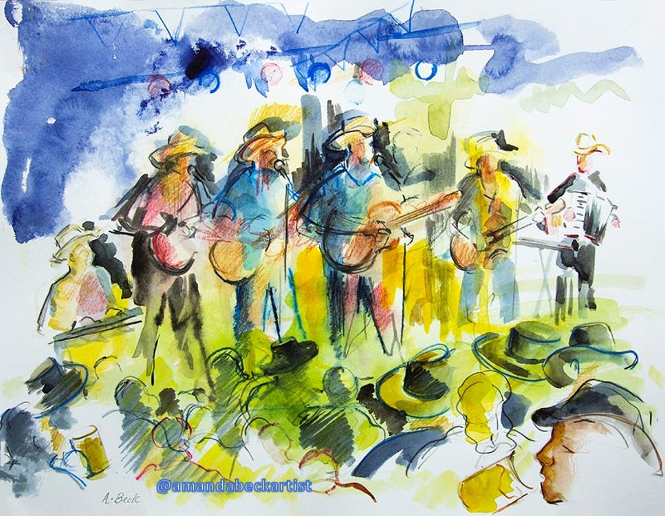 Live Sketch Los Pacaminos Worthing