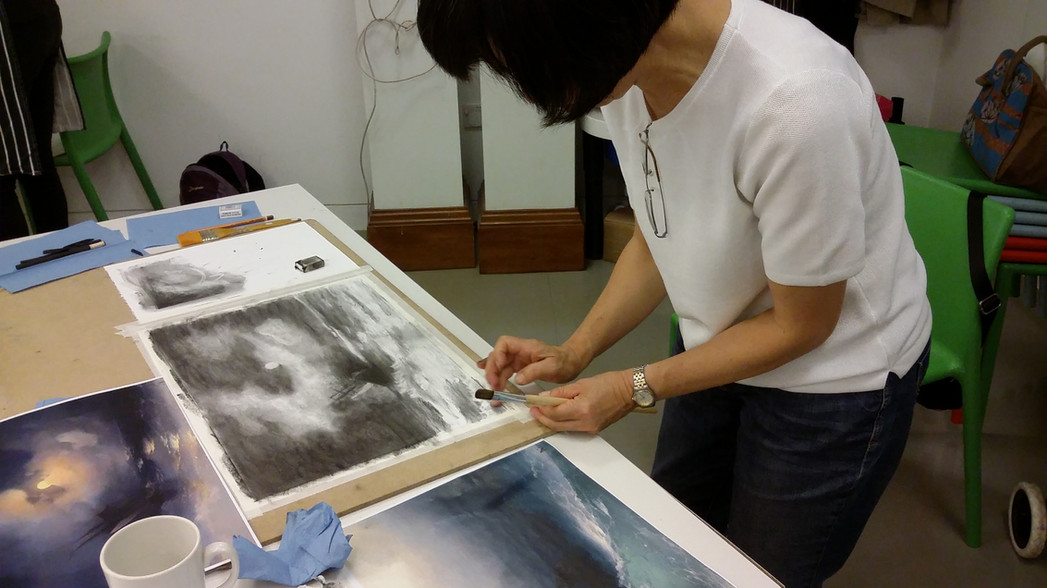 Student on an Ashmolean Workshop