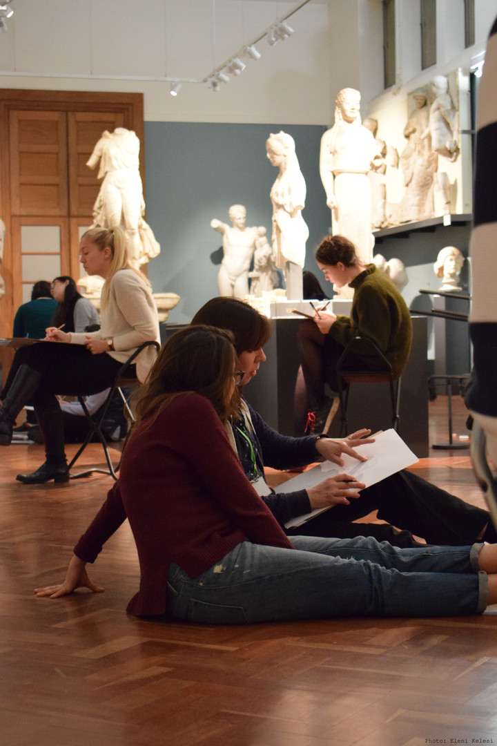 Teaching Brookes and Oxford University Students in the Cast Gallery