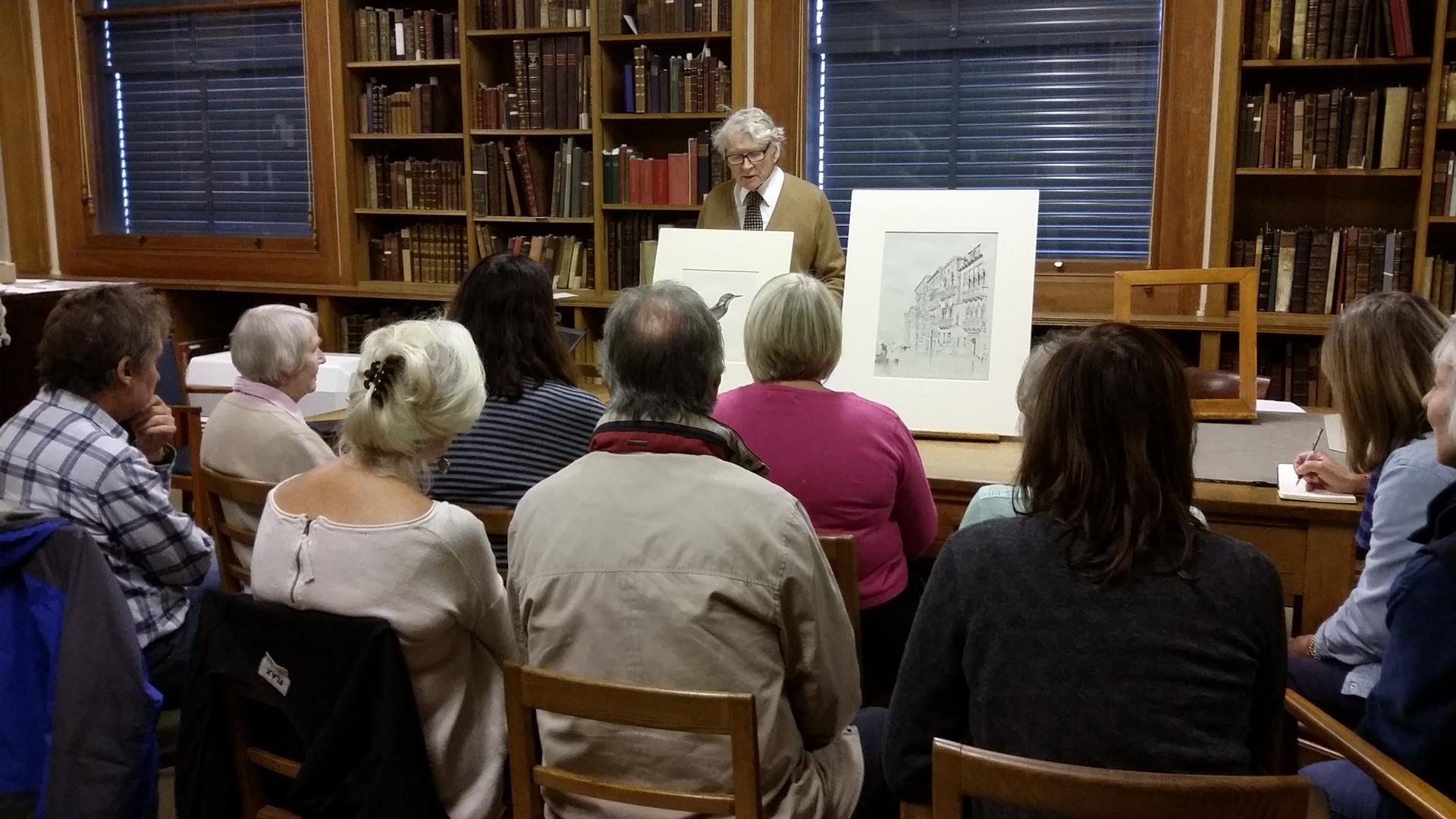 Talk by John Whitely in the Western Art Printroom