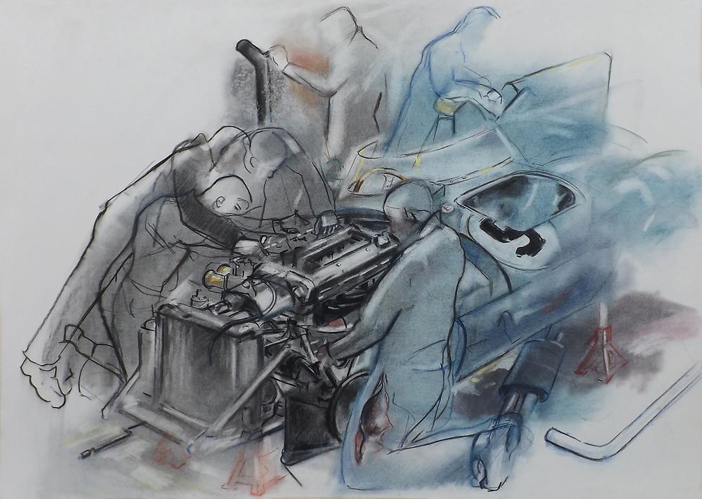 'Fitting the Jaguar D-Type Engine'