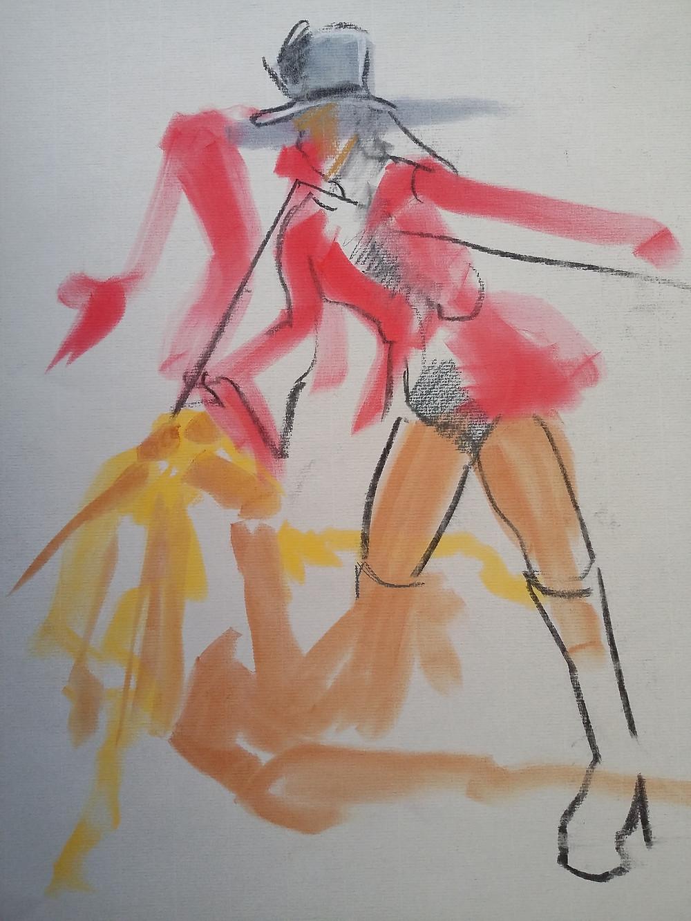 Fast pastel sketch