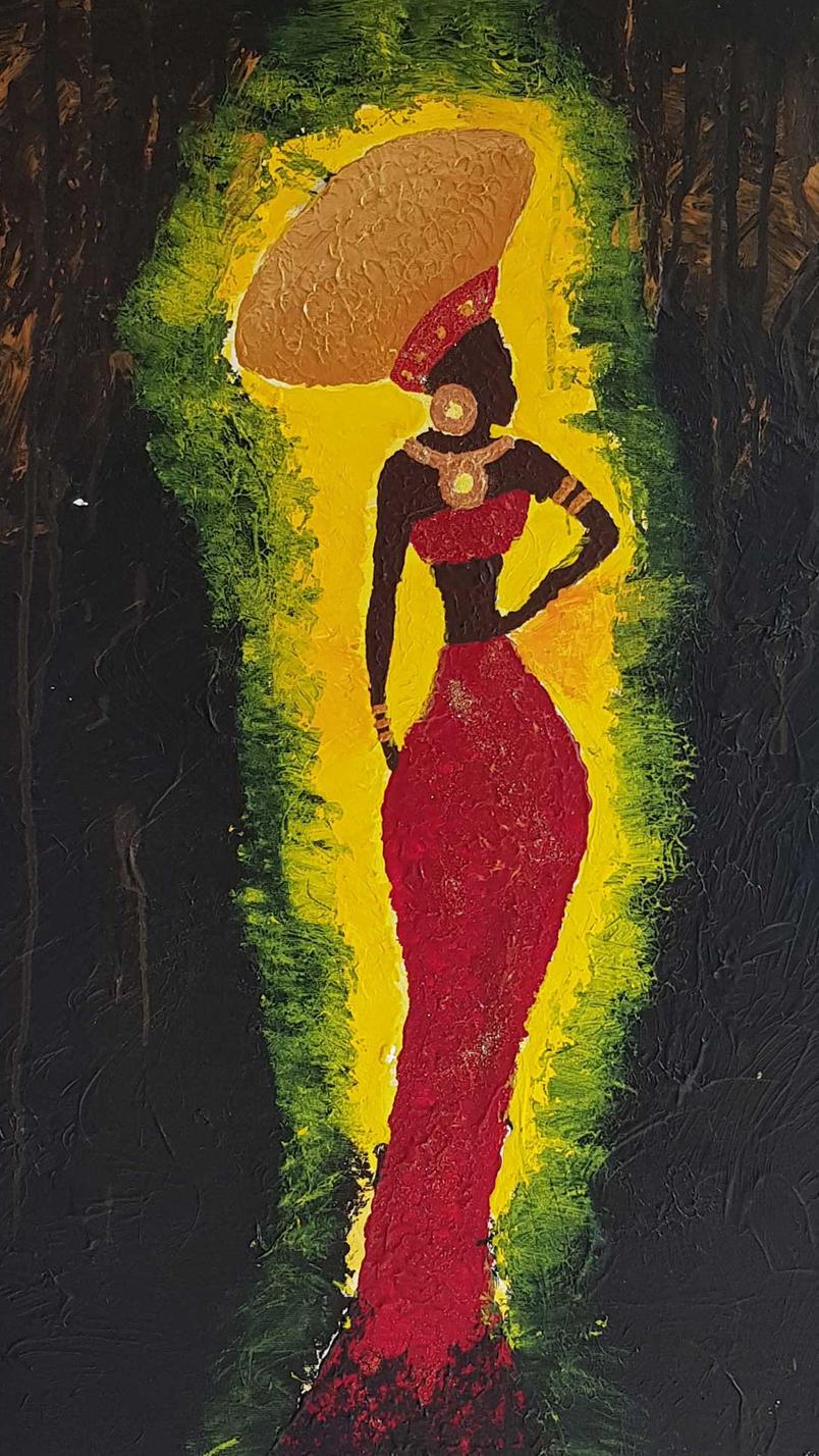 Isicholo Night 80 x 60 cm, 4500 DKK