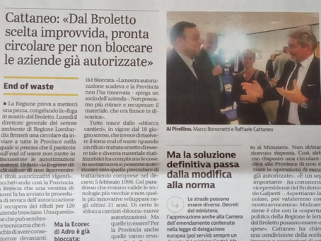 End Of Waste - Regione Lombardia << salva >> le imprese
