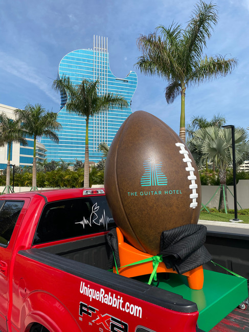 Hard Rock Guitar Hotel - Superbowl LIV Watch Party Photo Op