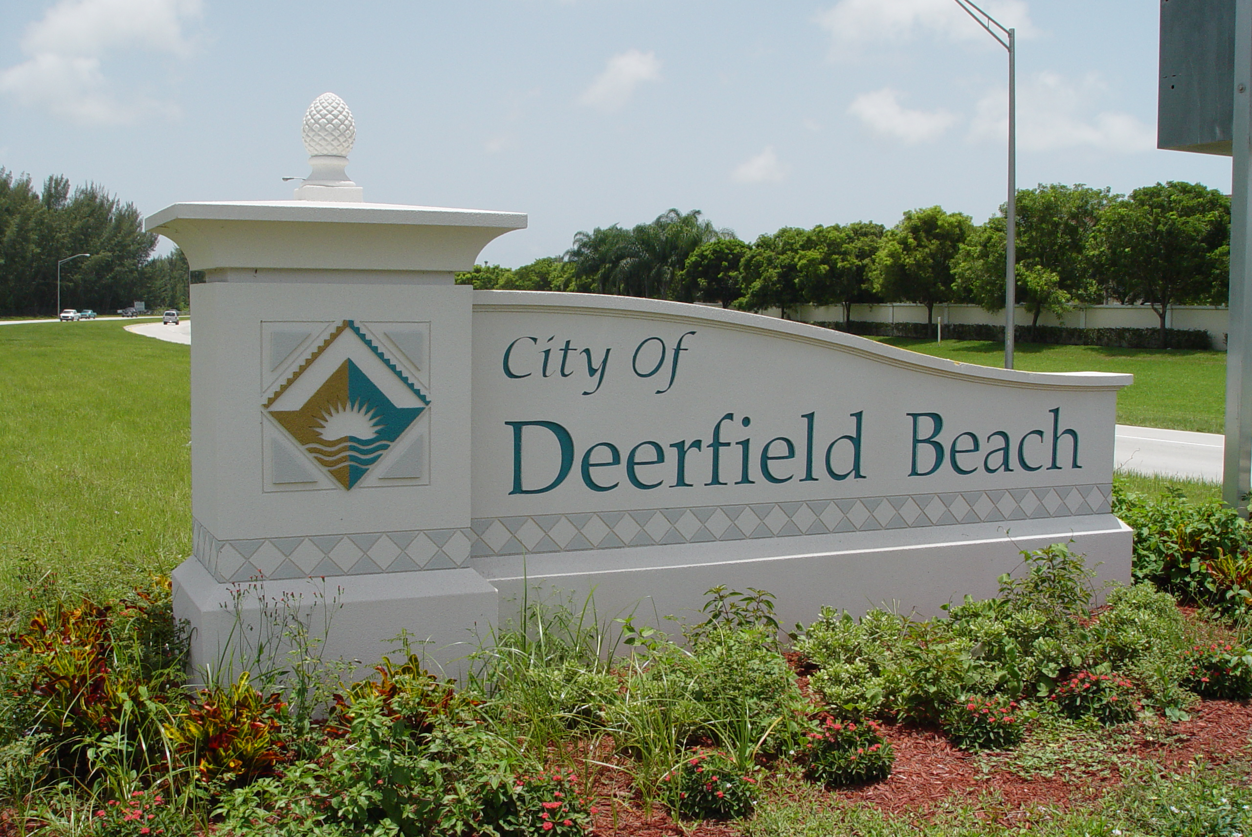 Deerfield Beach Sign Brand
