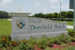 Deerfield Beach Sign Brand