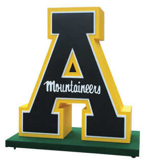 Giant Letter Mountanieers